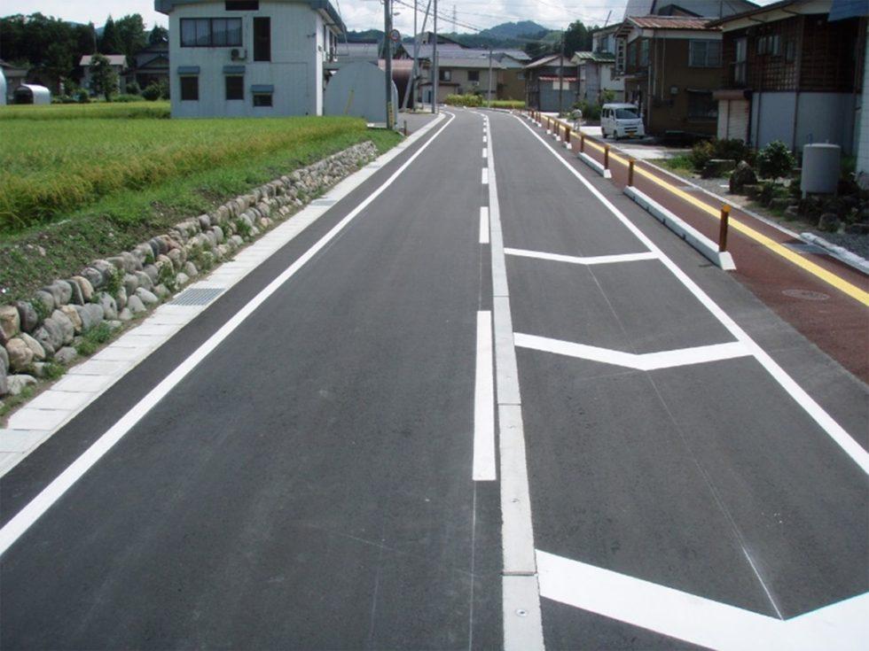 一般県道米沢今泉線バリアフリーまちづくり事業 平成21年9月竣工